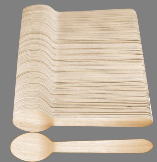 Łyżka drewniana 100 szt (5447)