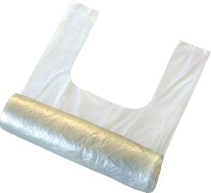 T-shirt bags on roll 275g
