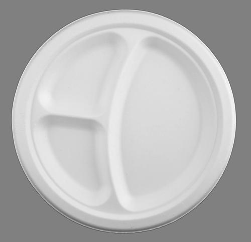 тарелка круглая большая трехсекционная 26 см