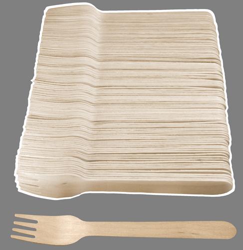 Widelec drewniany 100szt (5446)
