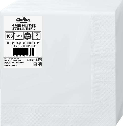 2w, białe, 100 szt (5466)