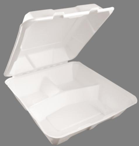 lunch box прямоугольный 1100 50 шт 3-х секционный